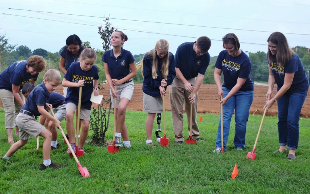 Agathos Classical School Celebrates Groundbreaking